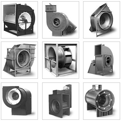 Industrial process and ventilation ventilators, fans, blowers
